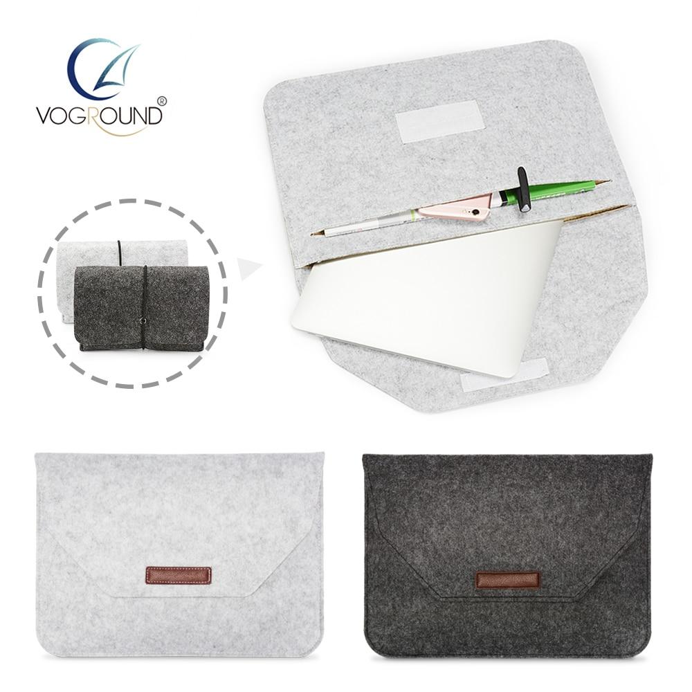 Tas Laptop Softcase Premium Soft Wool Felt Sleeve Case Notebook New Macbook Pro Air Retina 116 154 Inch Voground Bag For Apple 11 12 13 15
