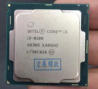 Intel Core i3 8 серии PC компьютер настольный процессор I3 8100 I3 8100 Процессор LGA 1151 land FC LGA 14нанометров Quad Core
