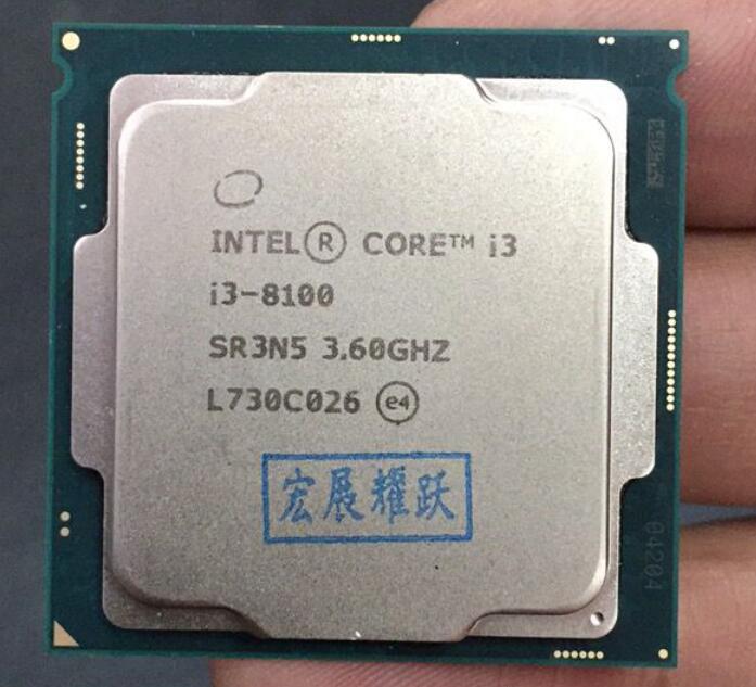 Intel Core i3 8series PC Computer Desktop Processor I3 8100 I3-8100 CPU LGA 1151-land FC-LGA 14 nanometers Quad-Core
