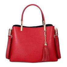Famous Designer Handbags Genuine Leather Luxury Crossbody Bags For Women Fashion Designer Female Shoulder Messenger Bags Tassel