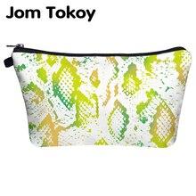 цены Jom Tokoy Makeup bag Printing Serpentine Cosmetic Bag Organizer Bag Women Travel Beauty Bag