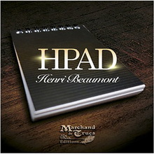 HPad By Henri Beaumont (DVD With Gimmick ) Magic Trick A7 Notebook Magic Props Close Up Street Stage Magic Mentalism misers delight pro x from mark mason blue light magic trick bag mentalism close up gimmick accessories