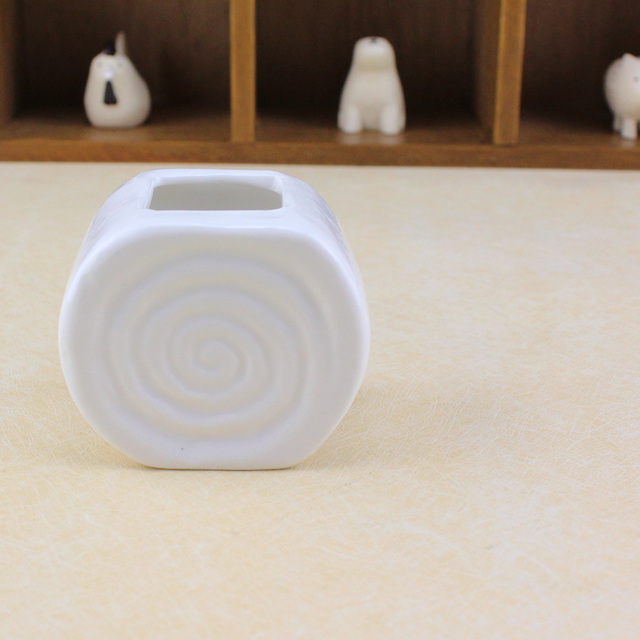 Neue Design Garten Mini Weiß Keramik Blumentopf Vase Gewinde Runde ...