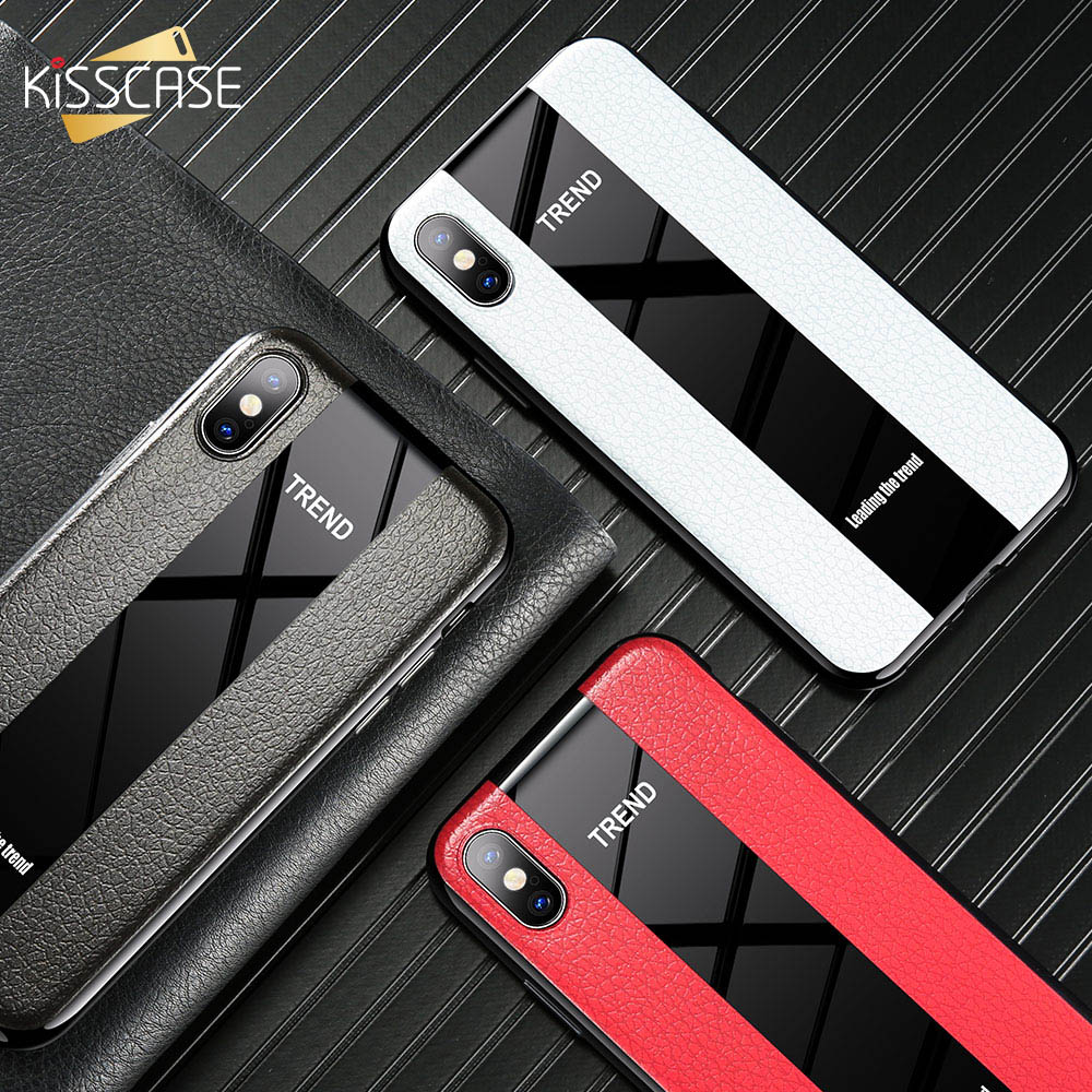 KISSCASE Splice Leather Phone Case For iPhone 7 XS MAX XR 6S Fashion 6 8 Plus X Funda