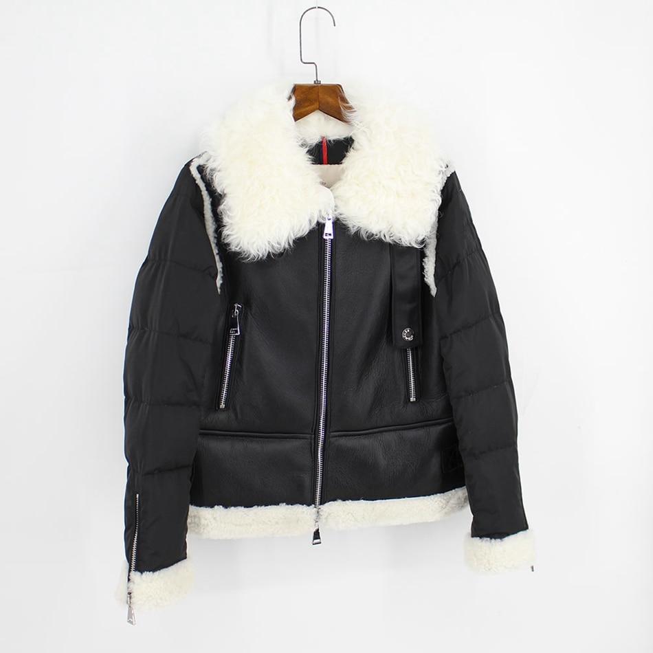 genuine leather down jackets winter women (2)