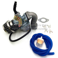 Cable Choke Carburetor PZ19 19mm PZ22 22mm With fuel hose air filter oil filter mainfold For Motorcycle ATV PitBike Go Kart Carb