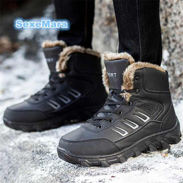 Men'S Shoes And Warm Winter Shoes Leisure Shoes High Help The Foot 39 Black Cotton Shoes
