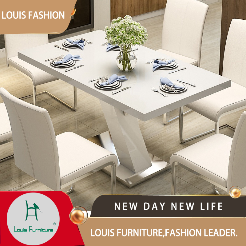 Louis Fashion Dining Table And Chair Combination 6 People