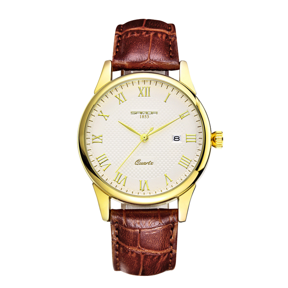 Luxury Brand 2017 Women Watches Men Chic Diamond Watch Leather Lovers Couple Watch montre femme relojes mujer