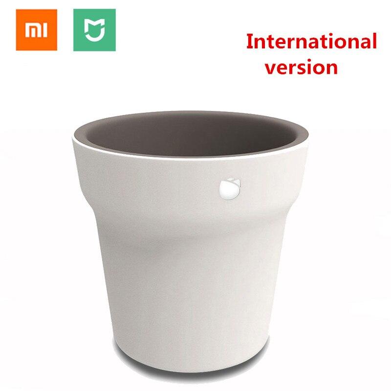 (Version internationale) xiao mi mi Flore Intelligent Pot De Fleur Plantes Herbe Moniteur Bluetooth Télécommande D'eau Du Sol Capteur Solaire