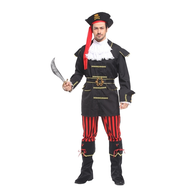 748d12d426ac US $15.26 8% OFF|christmas Carnival halloween costumes for men adult Jack  Sparrow Pirate Costume captain pirates caribbean Cosplay fancy dress on ...