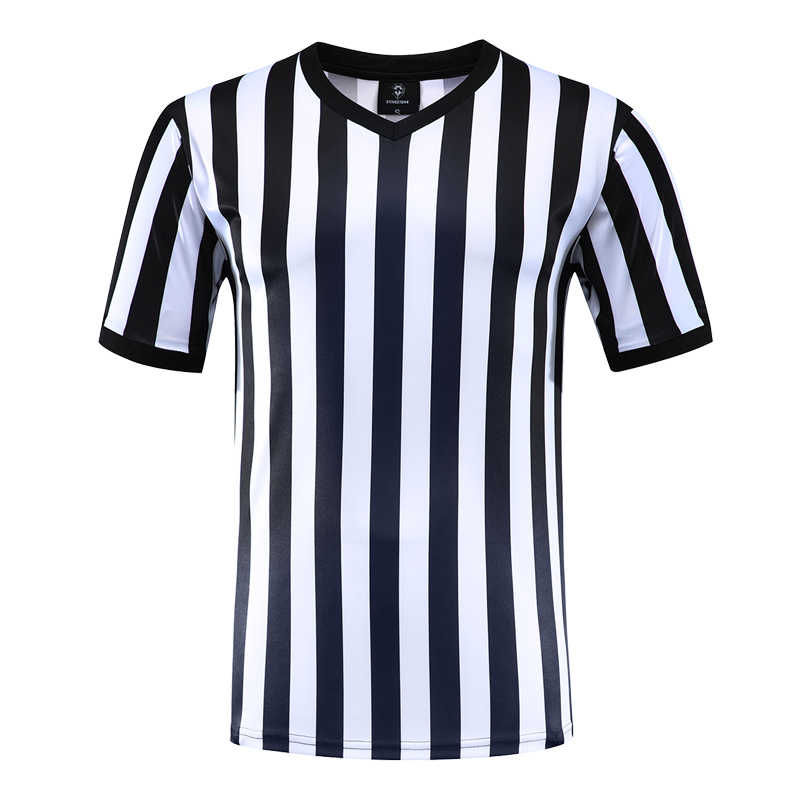 2019 New V Neck Soccer Referee Uniform Football Sports Short Sleeve Breathable Training Clothes