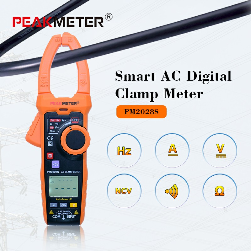 PEAKMETER Smart 6000 counts Digital Clamp Meter Multimeter Frequency Resistance LPF Non Contact Voltage Continuity Automatic smart automatic shoe cover machine non need electricity easy to stall skid resistance bottom