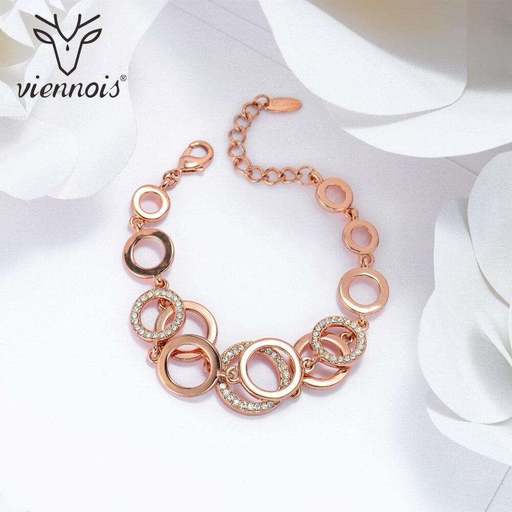 Viennois Rose Gold & Silver Color Circles Bracelet