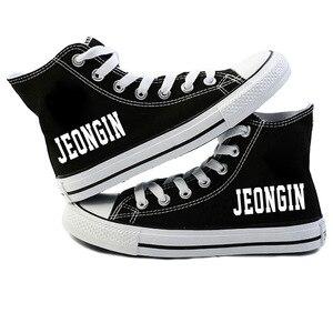 Image 5 - New KPOP Straykids Casual Shoes Womens Fashion Sneakers Stray Kids Canvas Shoes Jeongin Felix Bangchan Minho Changbin Vogue