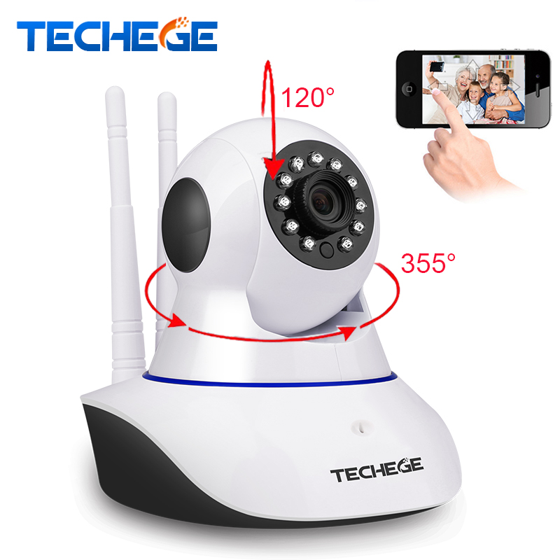 Techege Wireless 720P HD Night Vision Wifi Ip Camera 355 rotation Support Alarm Devices with Motion Detection Security Camera hd 720p support alarm accessory wireless ip camera