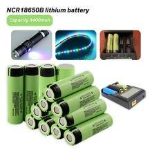 2 шт./лот, оригинал, NCR18650B, 3,7 В, 3400 мАч, высокая емкость, 18650, литиевая аккумуляторная батарея для светодиодных ламп