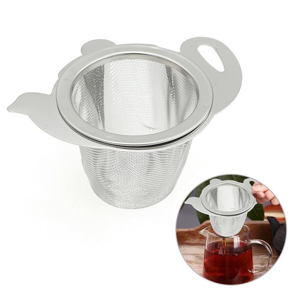 Reusable Tea Strainer Stainless Steel Tea Filter Net Loose Coffee Leak Tea Leaf Filter Kitchen Accessories