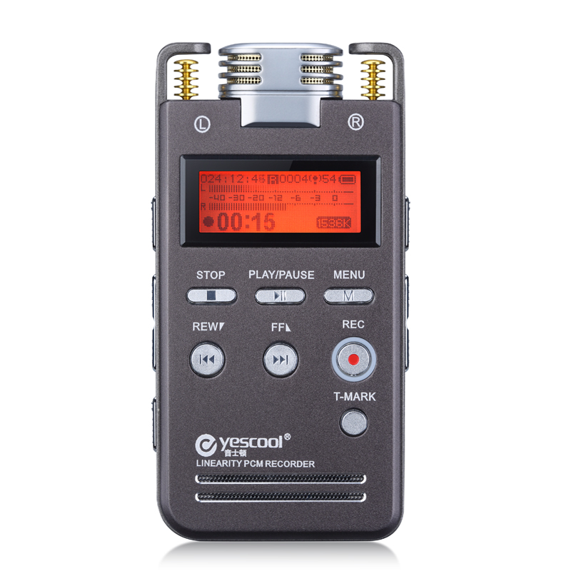 Yescool A5 16GB Metal Audio Video Recorder Professional Portable Digital Voice Recorder Rechargeable Meeting Training Class MP3