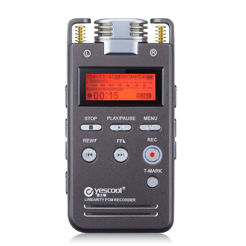 все цены на Yescool A5 16GB Metal Audio Video Recorder Professional Portable Digital Voice Recorder Rechargeable Meeting Training Class MP3 онлайн