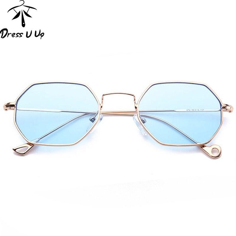 Dressuup Hipster mental Gafas de sol mujeres marca diseñador hombres  vintage UV400 Sol Gafas oculos de sol feminino lentes hombre f0daa15482