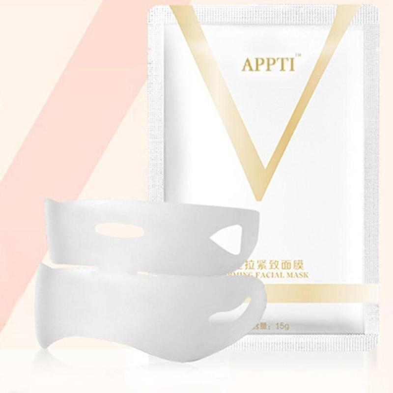 1PC V Face Lifting Facial Wrapped Masks V-Shaped Slimming Thin Face Mask V Bandage Mask Skin Treatment Double Lift Peel-off Chin