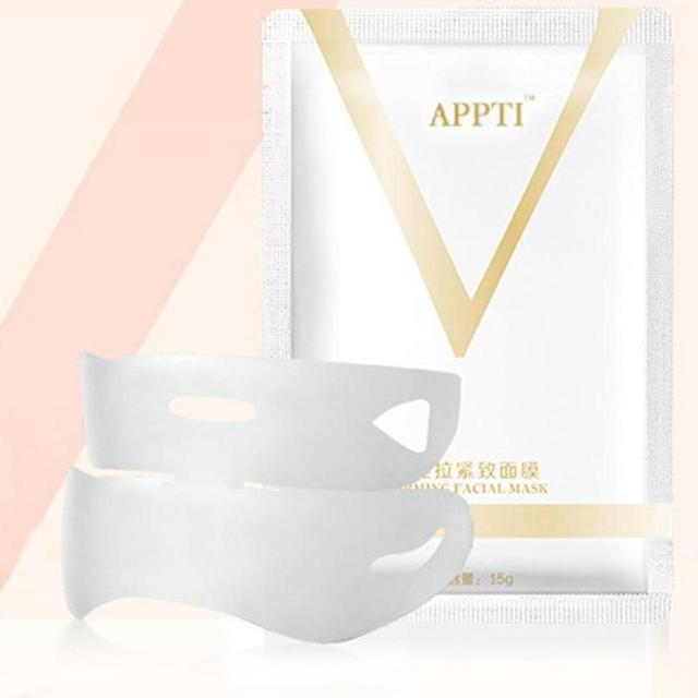 1PC V Face Lifting Facial Wrapped Masks V-Shaped Slimming Thin Face Mask V Bandage Mask Skin Treatment Double Lift Peel-off Chin