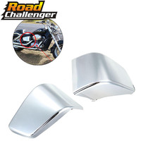 Plastic Battery Side Cover Frame Neck Cover Cowl Chrome For Honda Shadow VT750 VT400 1997 2003