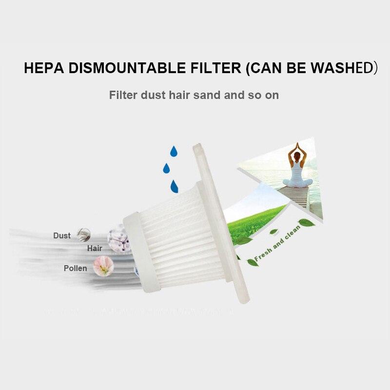 2018 Mini Handheld Auto Portable Parts Car Vacuum Cleaner 80W 3000PA Cleaner Wet Vacuum Cleaner and Dry Dust Brush for Car Clean