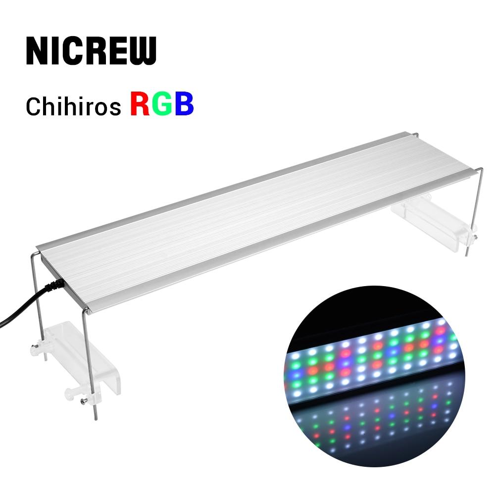 NICREW Chihiros RGB Aquarium LED Light Full Spectrum Lighting For Aquatic Plant Brightness Adjustable Suit For 30cm To 80cm Tank