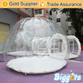 Free Sea Shipping Durable Inflatable Clear Bubble Transparent Camping Tent For Sale