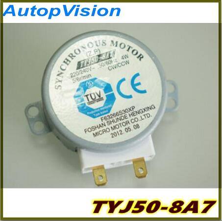 Free Shipping 5pcs TYJ50-8A7 For Microwave Turn Table Synchronous Motor 220-240V 4W 4R/Min New Original
