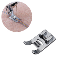 1Pcs Seven Ropes Inlaid DIY Sewing Presser Foot for Household Machines New Metal 7 Holes Machine