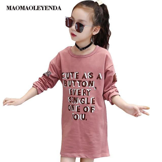 Spring Kids Dress For Girls 2019 Dress For Kids Long Sleeve Girls Dress Autumn Children's Costume For Teenage Girl 6 8 12 Years
