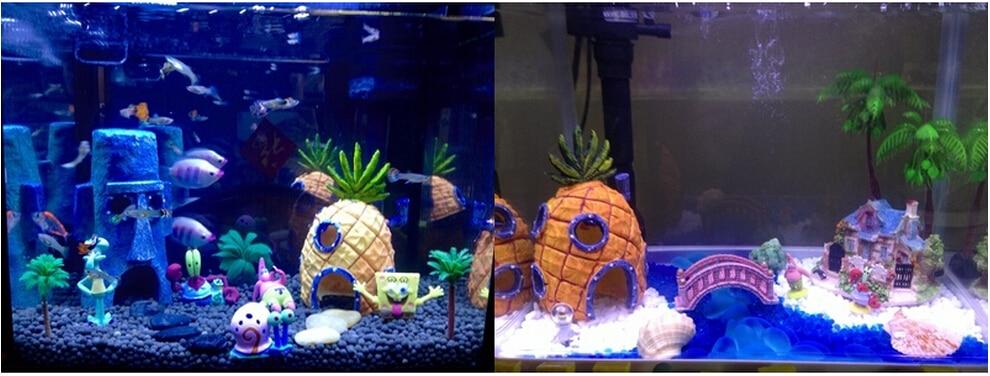 Cute Pineapple House Ornament 180g Aquarium Landscaping Aquarium