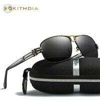 KITHDIA Sunglasses Men Women Polarized Sunglasses Men Driving Mirrors Coating Points Black Frame Eyewear Male Sun