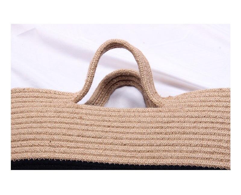 Bolsa feminina verão praia saco artesanal rattan