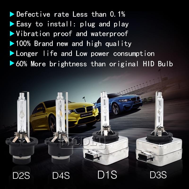 HCDLT HID Xenon D1S 55W 6000K D3S 5000K D1R Car Headlight Bulb 35W D2S Xenon D4S 4300K 8000K D2R D4R Auto Car HID Xenon Lamp D1S (4)