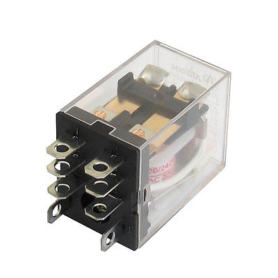 AC 220V/240V Coil 8 Pin DPDT Power Electromagnetic Relay 220VAC 7.5A 24VDC 10A Free Shipping стоимость