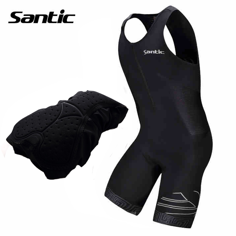 Santic Triathlon Cycling Jersey Mens Sleeveless Pro Team Cycling Skinsuit DH MTB Road Bike Bicycle Jersey Ropa Ciclismo S-2XL santic women cycling shorts black spandex pro padded 2017 triathlon running sleeveless mtb road bike bicycle shorts skinsuit