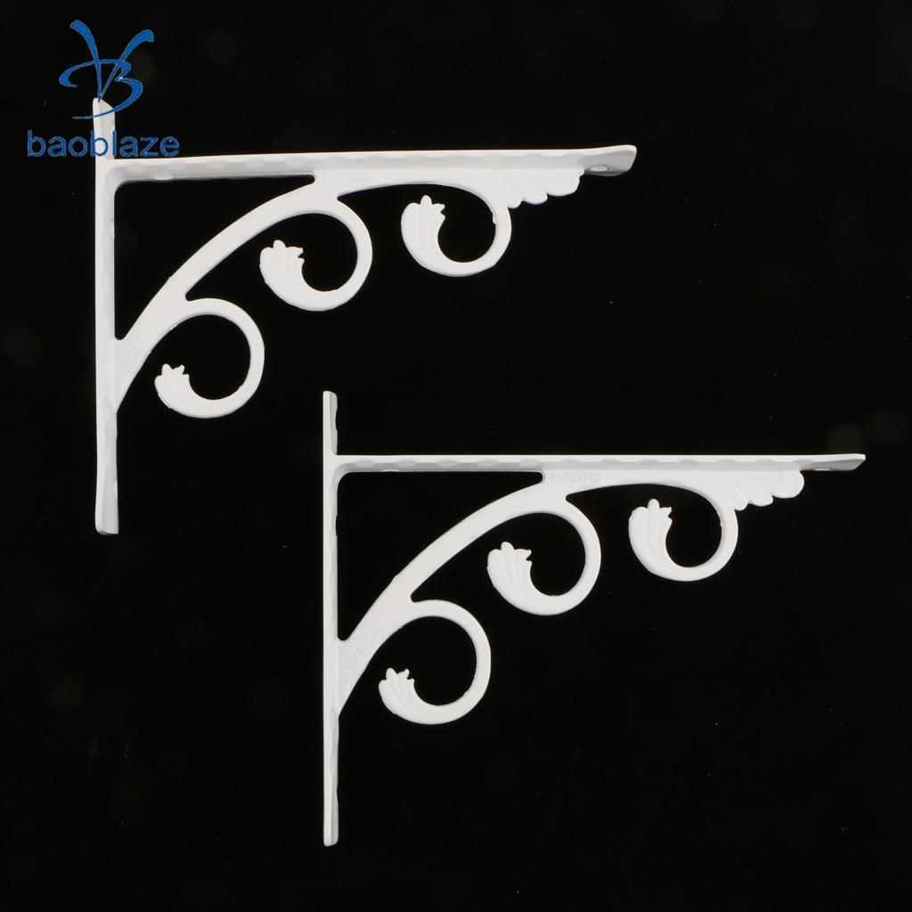 Bad Hardware Heimwerker Gehorsam 2 Stück Weiß L Förmigen Regal Halterung Wand Montiert Bad Küche Regale Aluminium Halter Aushöhlung Kunst Für Heimwerker Einfach Zu Reparieren