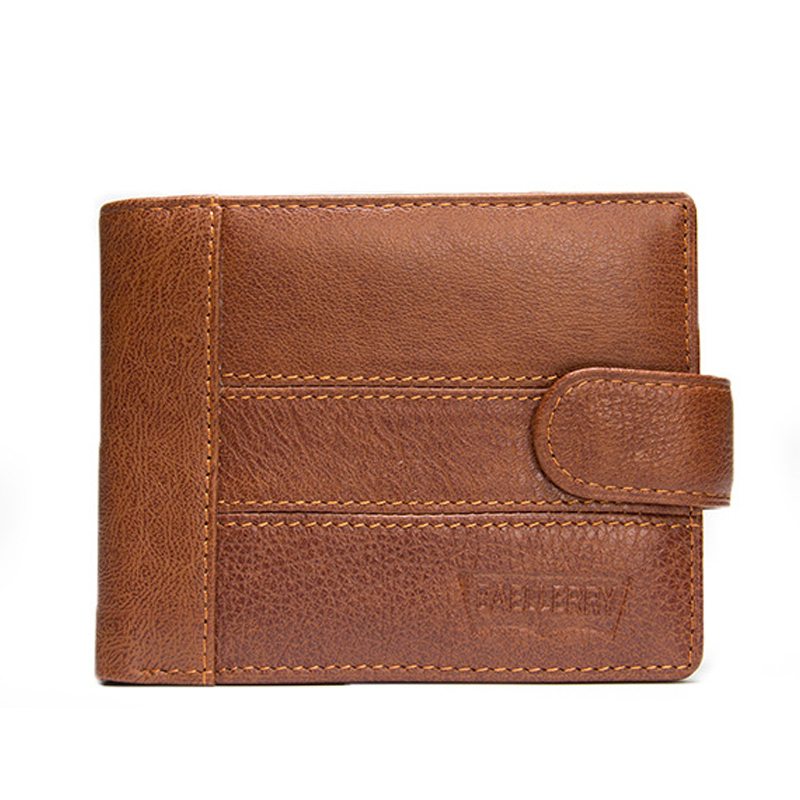 100% Genuine Leather Men Wallets With Hasp Short Coin Pocket Purse Small Vintage Wallet Male Cowhide Card Holder Purse For Men new 2017 free shipping women wallets short high quality genuine leather wallet for women cowhide purse with coin pocket