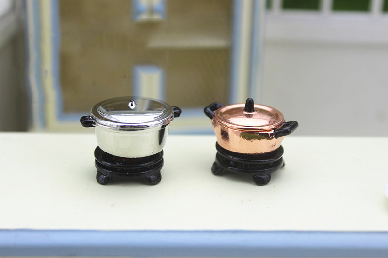 NEW 1:12 dollhouse miniature Mini Kitchen stove cooking pot doll  accessories toy for forest animal collectible Gift