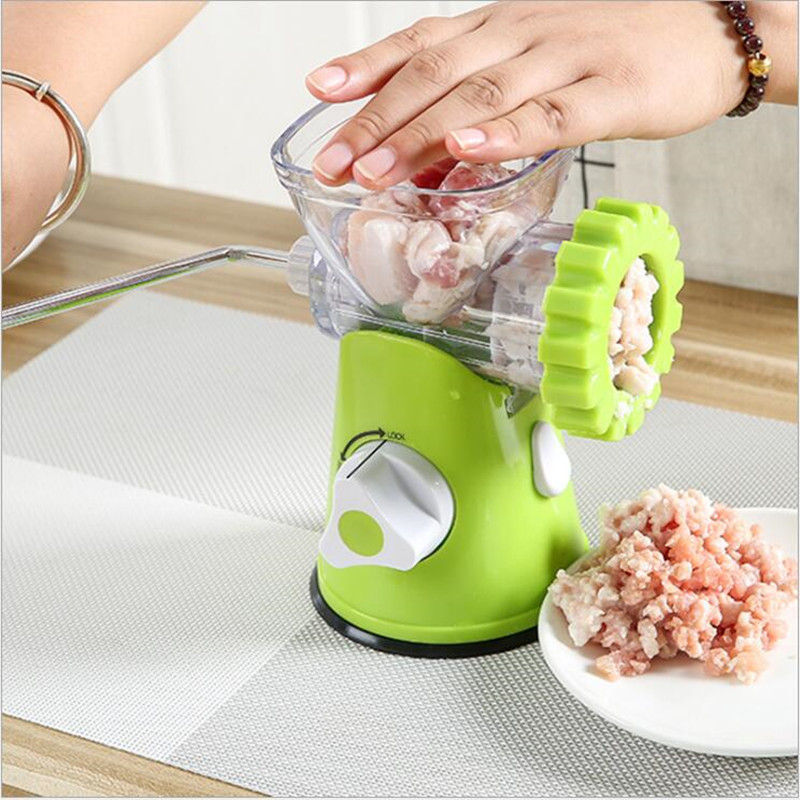 Kitchen Meat Grinder For Mincing Meat/Vegetable/Spice hand cranked meat mincer sausage manual meat grinder multifunctional home for mincing meat vegetable spice blades kitchen tools