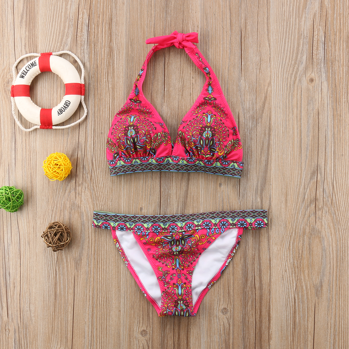 2019 New Floral Printed Women Bikini Set Push-up Swimsuit Bandage Swimming Costume Bathing Suit Swimwear Monokini Beachwear