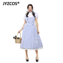 JYZCOS Adult Vintage Style The Wizard of OZ Dorothy Costume Halloween Costumes for Women Girls Dorothy  sc 1 st  AliExpress.com & Buy dorothy oz costume and get free shipping on AliExpress.com
