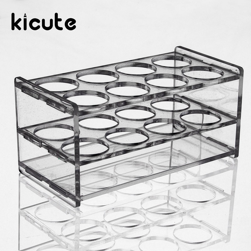 Kicute New 8 Holes Plastic Test Tube Rack Testing Tubes Holder Storage Stand Test Tube Stand Shelf Lab School SupplY 145*70*70mm