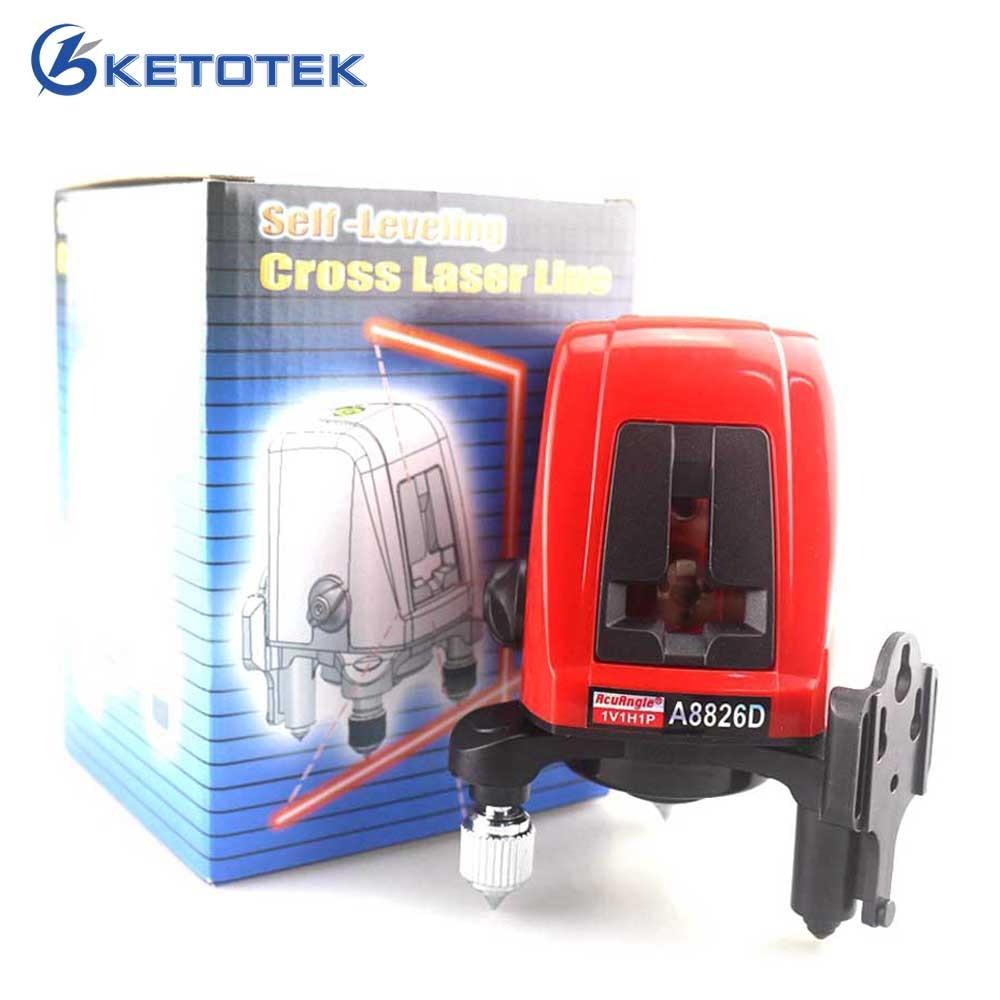 ACUANGLE A8826D Laser Niveau 360 degrés Auto-nivellement Croix Laser niveau Rouge Lignes 1V1H1D 2 Ligne 1 Point Compatible avec AK435