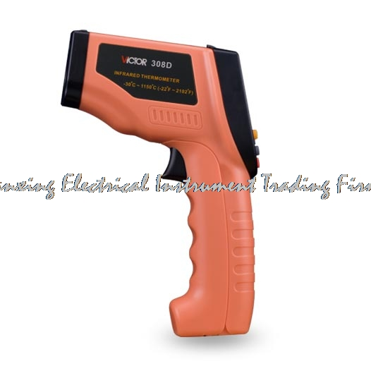 VICTOR 308D VC308D Digital Infrared IR Thermometer -30~1150C temperature instrument LCD Pyrometer Non-contact termometro gl new adult baby thermometer small lightweight lcd digital digital termometro non contact temperature measurement thermometre