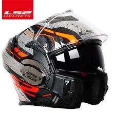 Original LS2 FF399รถจักรยานยนต์กลับมาใหม่Somersaultหมวกกันน็อกหมวกนิรภัยLS2